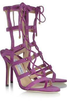 Jimmy Choo Meddle Suede Sandals
