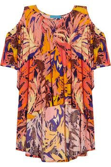 Matthew Williamson Cutout Printed Jersey Tunic