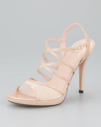 Stuart Weitzman Yeah Mesh-Detail Strappy Sandals