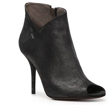 Calvin Klein Collection Kella Metallic Leather Peep Toe Booties