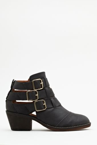 Nasty Gal Ackley Buckle Boot