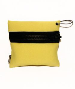 Summer Bummer  Neon Yellow Zipper Bag
