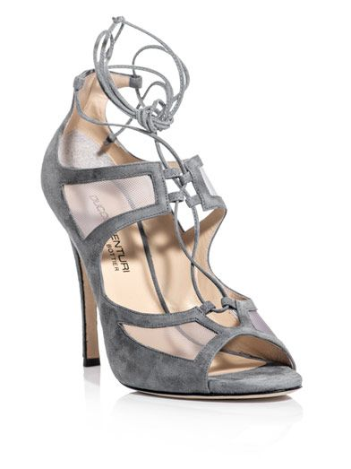 Duccio Venturi Mesh-Detail Lace-Up Shoes
