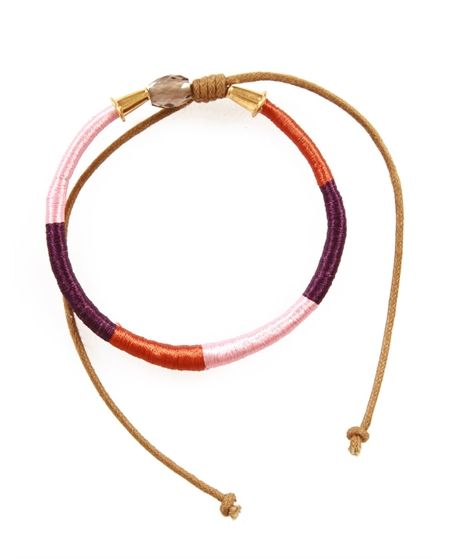 Lecap  Colorblock Thread Wrapped Bracelet