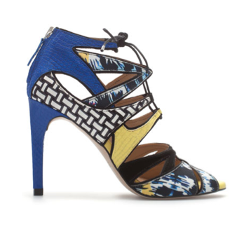 Zara Multicolored Lace-Up Sandals