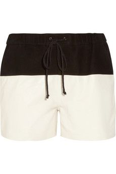 Proenza Schouler  Suede and Leather Board Shorts