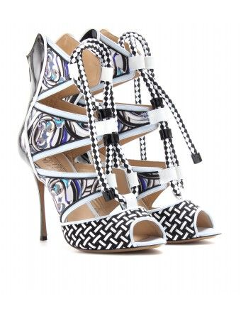 Peter Pilotto Print Patent Leather Stilettos