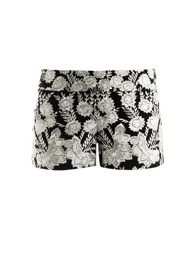 Haute Hippie Floral Embroidered Shorts