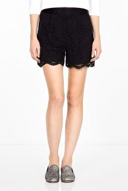 DKNY Scalloped Hem Shorts