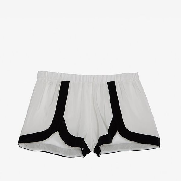 Alexis Exclusive Contrast Trim Silk Jogging Shorts