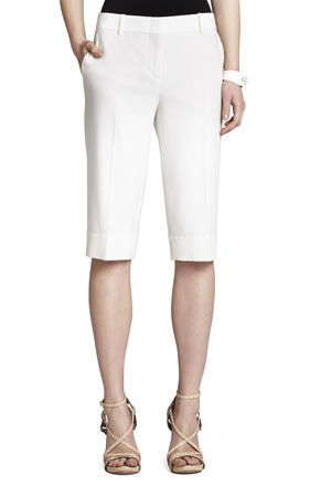 BCBGMaxazria Meyer Straight Leg Walking Shorts