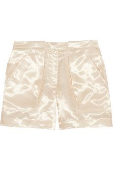 Band of Outsiders Flight Satin-Twill Shorts