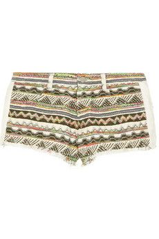 Iro Lofina Aztec-Patterned Jacquard Shorts