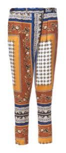 Zara  Handkerchief Print Trousers