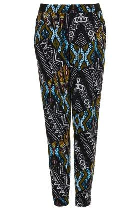 Topshop Topshop African Jersey Tapered Trousers