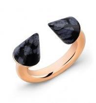 Vita Fede Vita Fede Titan Snowflake Obsidian Stone Ring