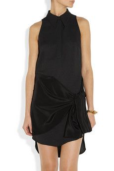 3.1 Phillip Lim  Draped Silk and Crepe Dress