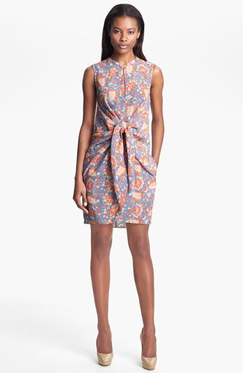 Carven  Print Tie Front Dress