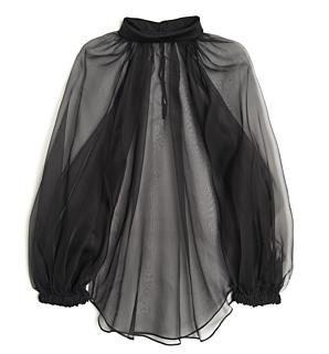 Givenchy Organza Sheer Top