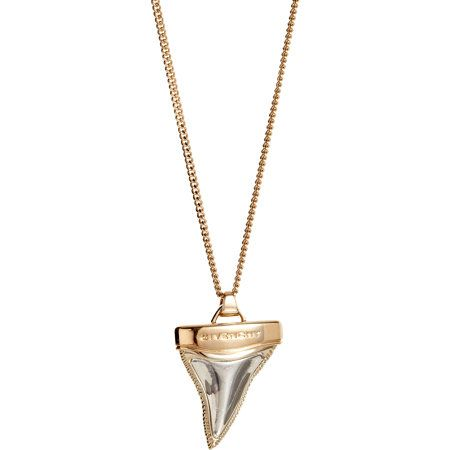 Givenchy Pink Gold & Palladium Small Shark Tooth Pendant Necklace