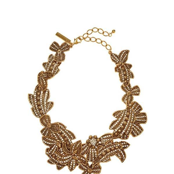Oscar de la Renta Antique Lace Bib Necklace