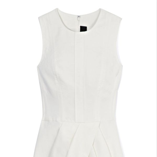 Vera Wang White Cotton Canvas Dress