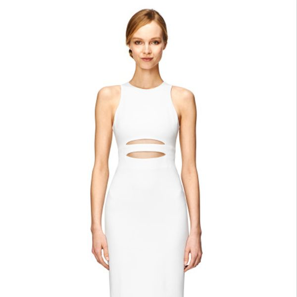 Cushnie et Ochs White Oscar Jersey Dress