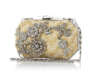 River Island Cream Woven Embellished Box Bag