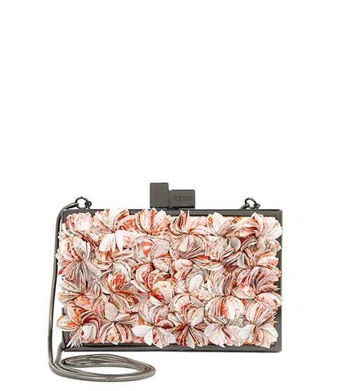 Reiss Liza Cut Flower Embellished Clutch