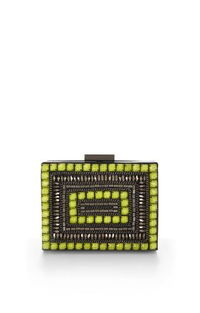 BCBGMaxazria Rocco Tribal Bead Box Clutch