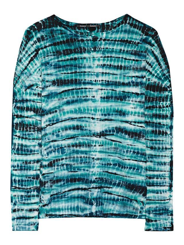 Proenza Schouler Tie-Dye Slub Cotton-Jersey Top