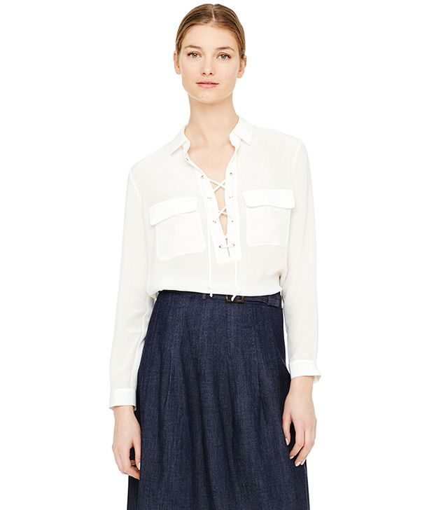Club Monaco Elizabina Silk Top