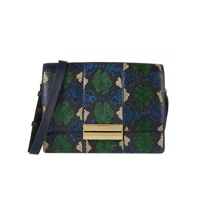 See by Chloé Kristen Python-Print Leather Shoulder Bag