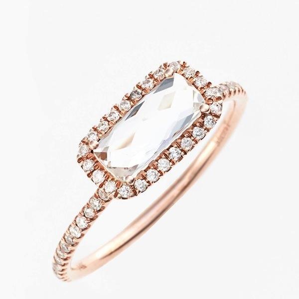 MeiraT White Topaz & Diamond Pavé Ring