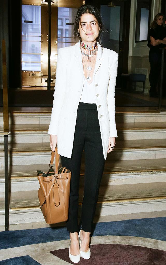 On Leandra Medine: Chanel blazer.