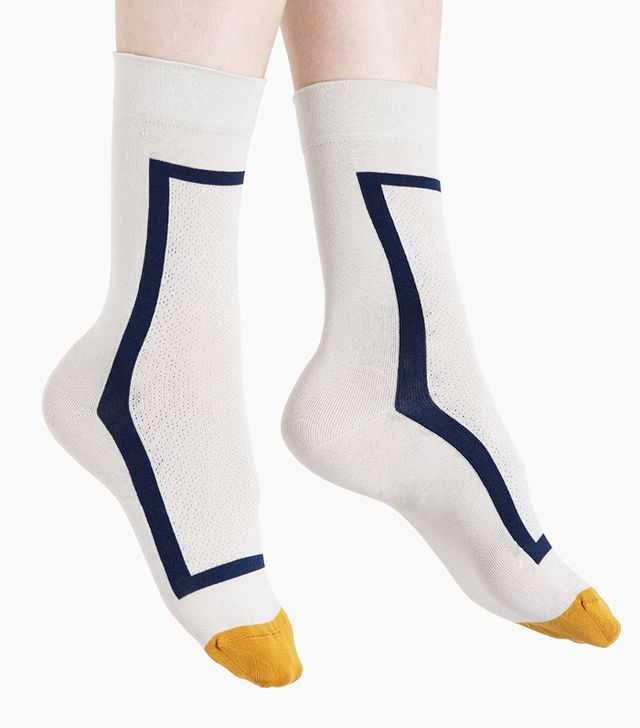 Bonne Maison Mid-Grey Rectangle Socks