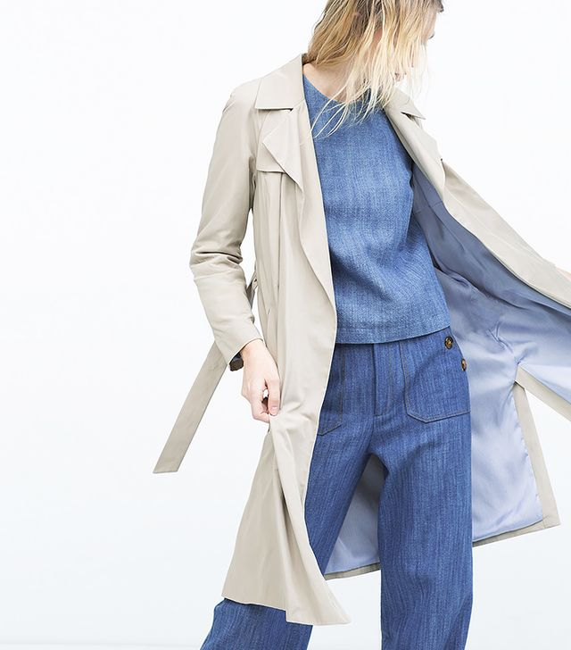 Zara Draped Trench Coat