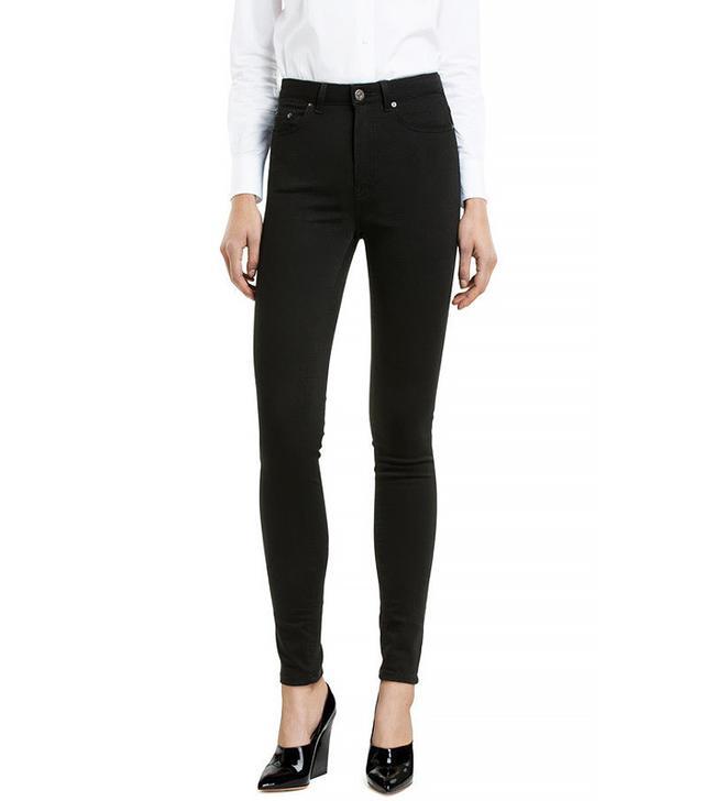 Acne Studios Pin High Rise Skinny Jeans Black 27/32