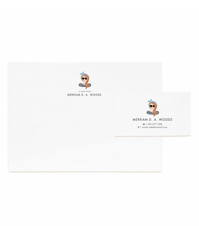 Rifle Paper Co. Portrait Illustrated Flat Notes & Calling Cards