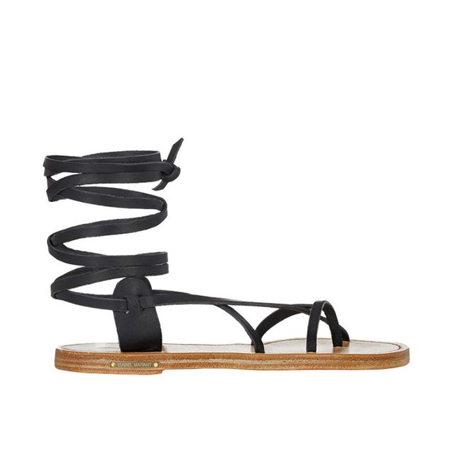 Isabel Marant Étoile Amy Ankle-Wrap Sandals