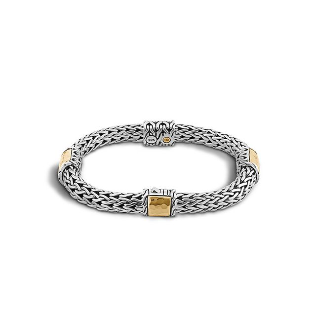 John Hardy Palu 18K Gold & Silver Four-Station Bracelet