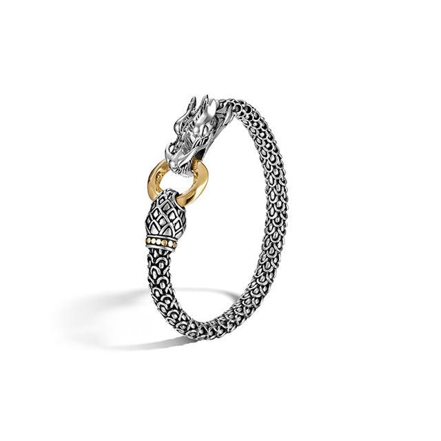 John Hardy Naga Gold & Silver Dragon Bracelet with Gold Ring