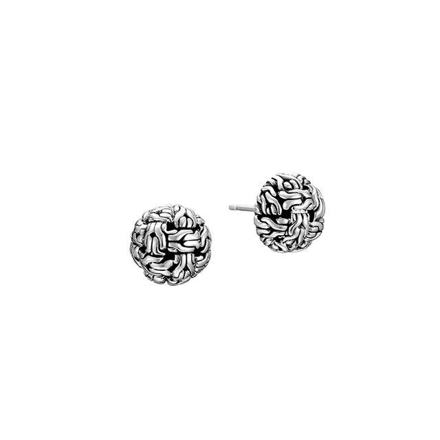 John Hardy Classic Chain Silver Knot Stud Earrings