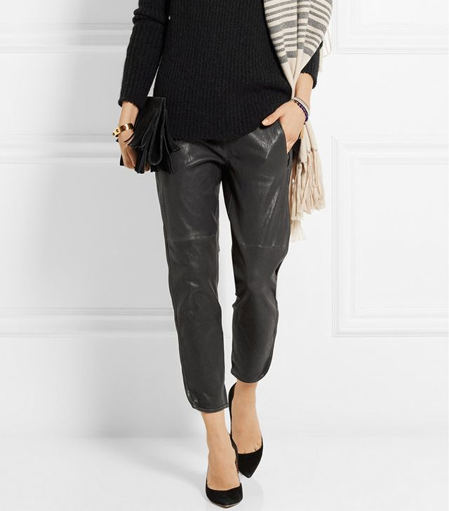 Isabel Marant Daniels Leather Tapered Pants