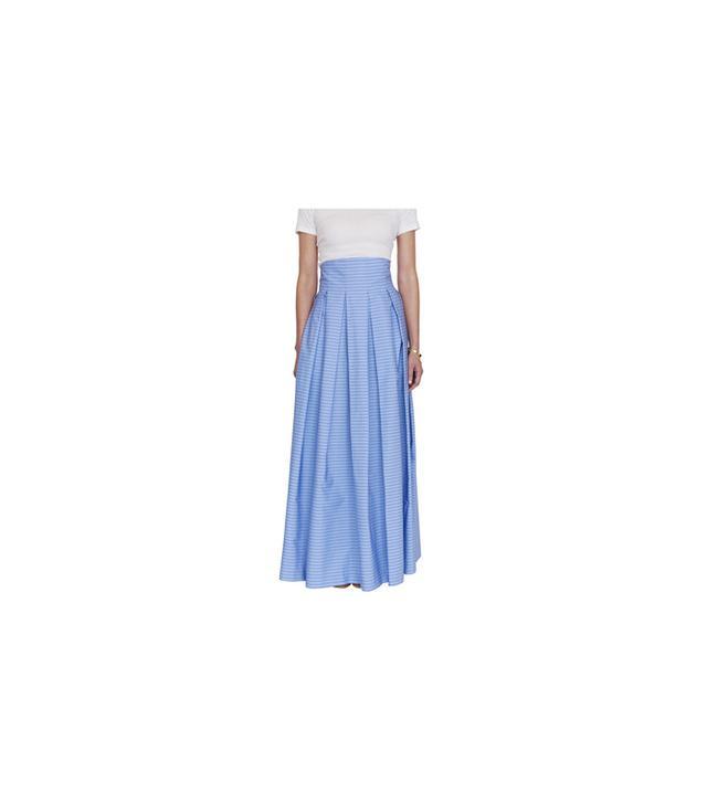 M.D.S. Stripes Hi-Waisted Inverted Pleat Skirt