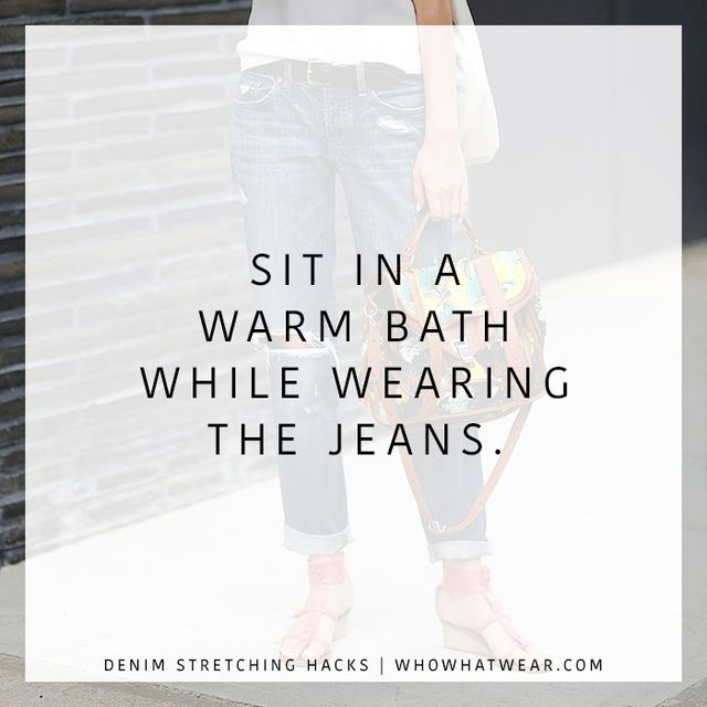 jeans don't fit how to fix warm bath