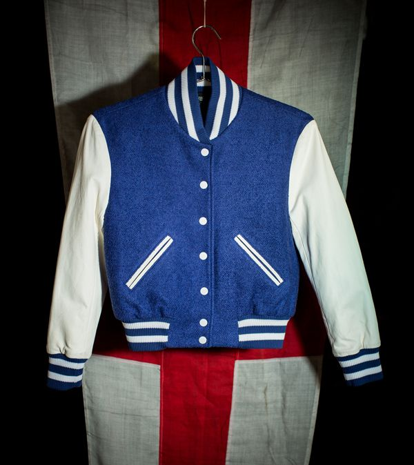 Simone Royal & White Varsity Jacket