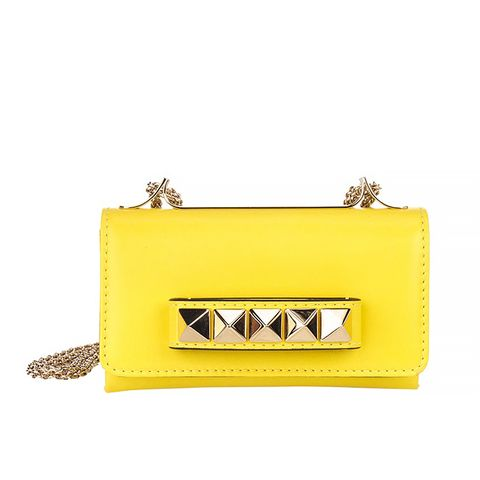 Yellow Leather Va Va Voom Small Shoulder Bag