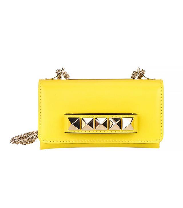 Valentino Yellow Leather Va Va Voom Small Shoulder Bag