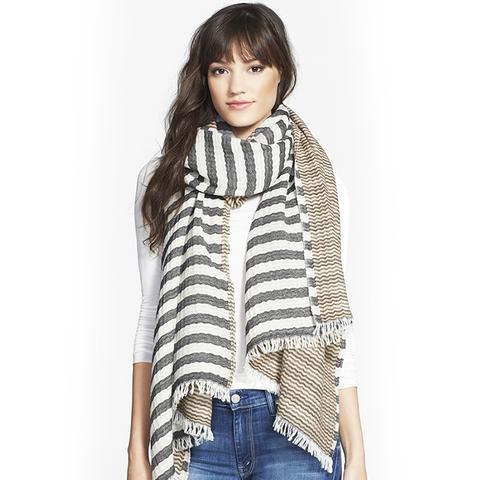 'Tory' Striped Wool Scarf